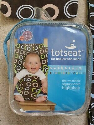 Totseat Washable Squashable Turn Any Seat Into A Highchair Fabric Unisex In Bag • 5£