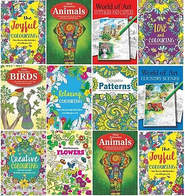 £3.29 • Buy MIND RELAXING COLOURING BOOK BOOKS Kids Or Adult Stress Relief Colour Therapy