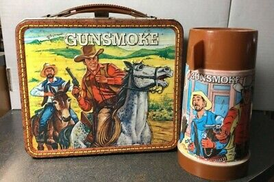 $229 • Buy Vintage 1973 Gunsmoke Lunchbox With Thermos