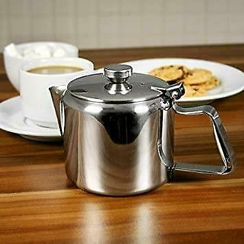 £19.99 • Buy Stainless Steel Catering Restaurant Teapot With Lid Tea Coffee Sunnex