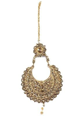 $15 • Buy Indian Maang Tikka Jewelry Wedding Bollywood Gold Plated  Forehead Women Jewelry