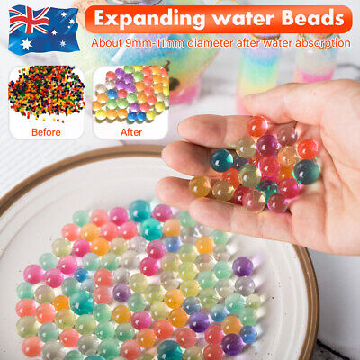 AU16.99 • Buy 10000/50000pcs Crystal Water Balls Jelly Gel Beads For Vases Orbeez Colorful AU