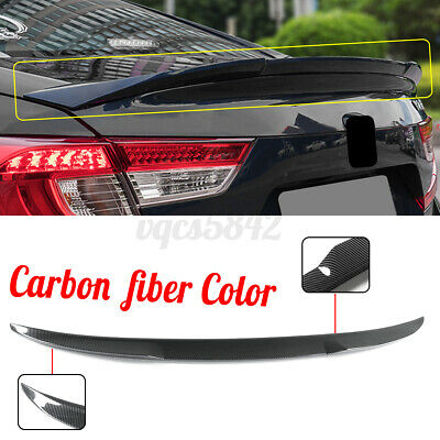 $105.39 • Buy For Honda Accord 2018-2019 JDM Style Carbon Fiber Color Rear Trunk Spoiler Wing