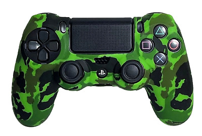 AU8.90 • Buy Silicone Cover For PS4 Controller Case Skin - Green Camo