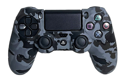 AU9.90 • Buy Silicone Cover For PS4 Controller Case Skin - Grey Camo