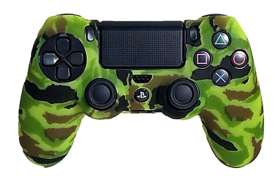 AU9.90 • Buy Silicone Cover For PS4 Controller Case Skin - Lime Green Camo
