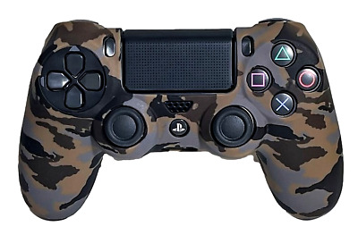 AU9.90 • Buy Silicone Cover For PS4 Controller Case Skin - Brown Camo
