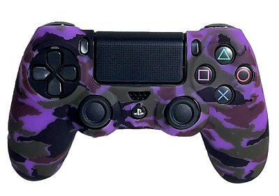 AU9.90 • Buy Silicone Cover For PS4 Controller Case Skin - Purple Camo