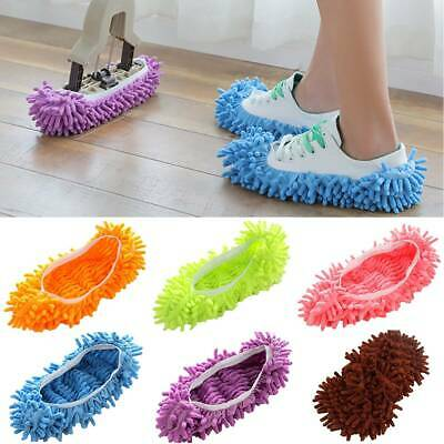 Microfibre Duster Mop Slippers Floor Home Rooms Cleaner Shoes Covers Feet Socks • 2.79£