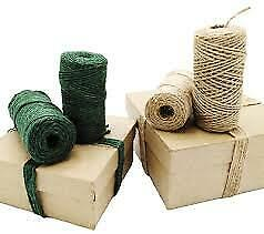 Natural Jute Twine Roll DIY Wrap Hemp Gift Rope Cord String Roll 2 Ply Rustic  • 1.99£