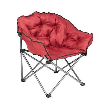 $84.99 • Buy Mac Sports Folding Padded Outdoor Club Camping Chair With Carry Bag, Wine Red
