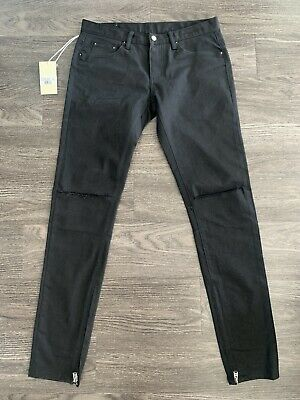 $ CDN79.21 • Buy NEW MNML LA Matte Black Skinny Stretch Zipper Denim M6 Sz32 SOLD OUT EVERYWHERE