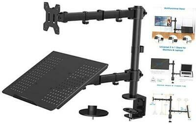 $109.18 • Buy Laptop Monitor Stand With Keyboard Tray, Adjustable Desk Mount Laptop Holder