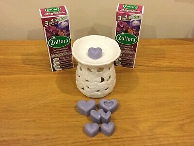2 X Zoflora Midnight Bloom, Alien Inspired Wax Melts And Butterfly Burner Set • 18.35£