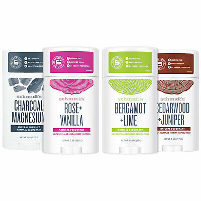 Schmidt's Natural Deodorant Stick 58ml, Pack Of 6 & 12 • 59.99£