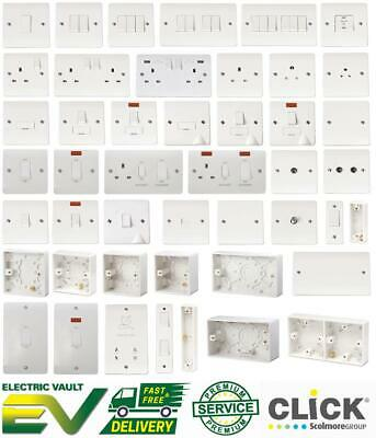 £4.87 • Buy Click Mode White Moulded Light Switches & Sockets - Full Range 20 Year Guarantee