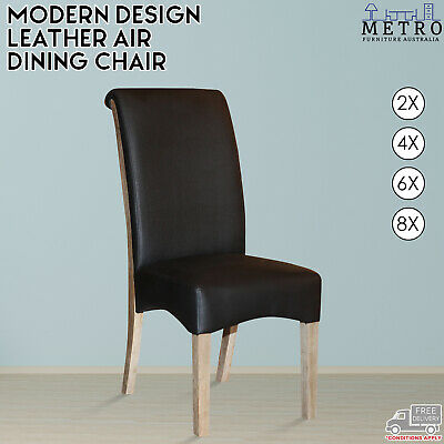 AU2036 • Buy New Modern Leather Air Dining,Chair Solid Timber Legs,Black Color