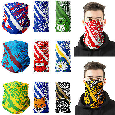 Football Face Mask Scarf Bandana Neck Protection Dad Gift Birthday Match Day • 9.95£