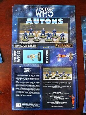 DOCTOR WHO Harlequin Miniatures Box Sleeve AUTONS Vintage Paper  • 9.99£
