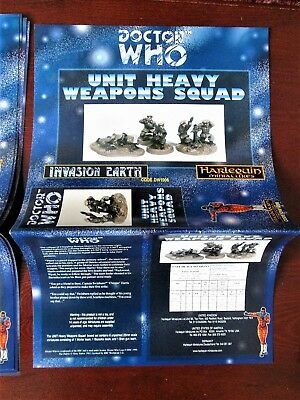 DOCTOR WHO Harlequin Miniatures Box Sleeve UNIT HEAVY WEAPONS  Vintage Paper  • 9.99£