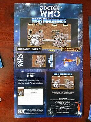 DOCTOR WHO Harlequin Miniatures Box Sleeve WAR MACHINES Vintage Paper  • 9.99£