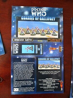 DOCTOR WHO Harlequin Miniatures Box Sleeve GUARDS OF GALLIFREY Vintage Paper  • 9.99£