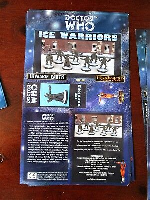 DOCTOR WHO Harlequin Miniatures Box Sleeve ICE WARRIORS Vintage Paper  • 9.99£