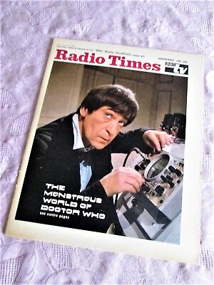 DOCTOR WHO Vintage RADIO TIMES 1968 PATRICK TROUGHTON Cover. Paper Magazine • 575£