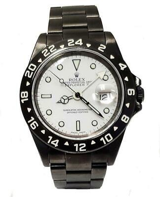 $ CDN10506.66 • Buy 40mm Rolex Explorer Ii Steel Black Pvd Coated Watch 16570
