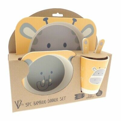£10.99 • Buy Bamboo Dinner Set, Elli And Raff Kids Childrens Dining Plate Bowl, Eco Friendly