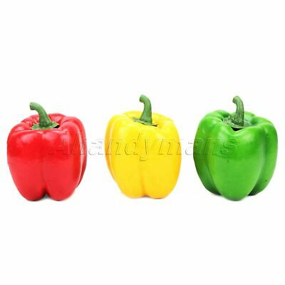 3pc Realistic Artificial Hot Chili Fake Fruit Vegetable Display Props Home Decor • 3.94£