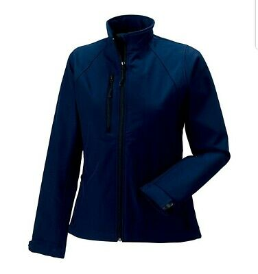 Jerzees Colours Ladies Water Resistant & Windproof Soft Shell Jacket. Size S • 9.99£