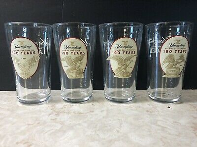 $15.99 • Buy Set Of 4 Yuengling 190th Anniversary 16 Oz Heavy Beer Glasses *brand New*