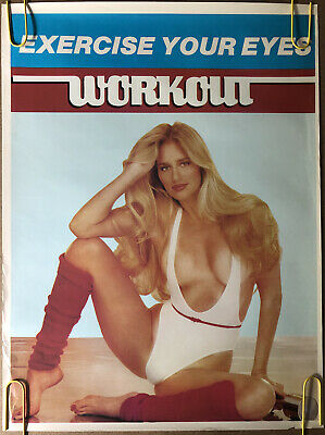 Original Vintage Poster Exercise Your Eyes Work Out Pinup Sexy Blonde Woman Gym • 38.36£