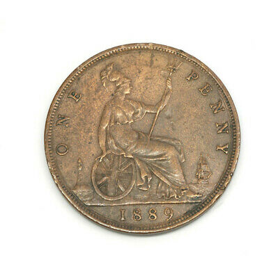 $20 • Buy British Large Penny Coin 1889 Queen Victoria Britain UK One Penny