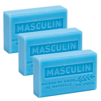 £9.95 • Buy Masculin, French Soaps With Shea Butter, Traditional Savon De Marseille 3x125g