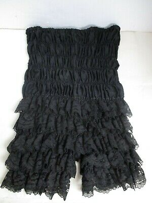$11.99 • Buy Vintage Square Dance Bloomers Ruffled Small Black Ruthad- Cotton - Steampunk