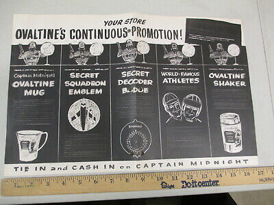 $51.49 • Buy OVALTINE Captain Midnight 1950s Store Display Decoder Premium AD AGENCY Concept
