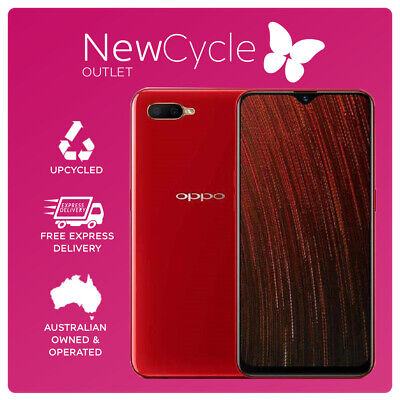 AU197 • Buy Oppo AX5s 64GB Red LOCKED TO OPTUS (A Grade In Original Box & Acc)