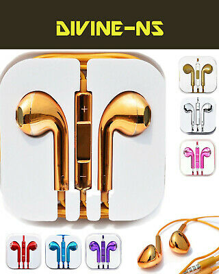 Colour Headphones Earphones For EarPods With Mic HTC Sony Samsung S 6 P&p • 4.85£