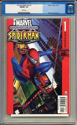 AU359.95 • Buy ULTIMATE SPIDER-MAN #1 CGC 9.8 WHITE PAGES First Marvel Comics Ultimate Title