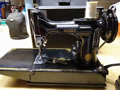 $200 • Buy Singer Centennial Vintage 1951 Portable Featherweight Sewing Machine 221K W/Case