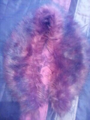 £6.60 • Buy Lovley Faux Fur Scarf With Hook And Eye Fastening Unbranded,burgundy Red