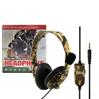 AU24.90 • Buy Gaming Headset For Sony PS4, XBOX ONE And SWITCH - Camouflage Yellow