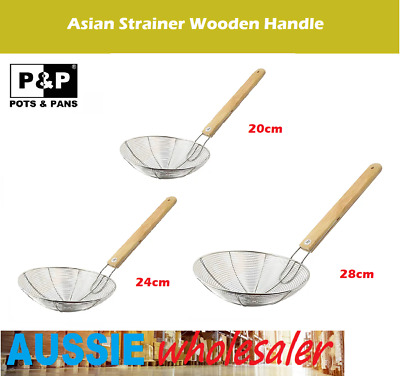 AU19.95 • Buy AU Asian Style Stainless Steel Mesh Skimmer/Strainer With Wood Handle Kitchen