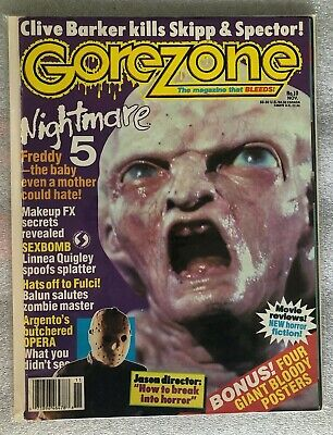 $14.99 • Buy GOREZONE #10 November - Magazine NEW - Freddy Nightmare 5, Clive Barker, Posters
