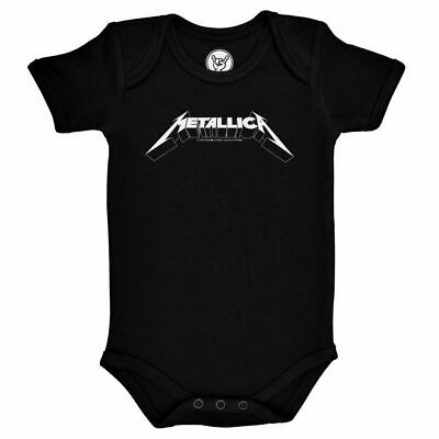 £19.95 • Buy Metallica Logo Official Baby Grow Romper Black (Ages 0-18 Months)