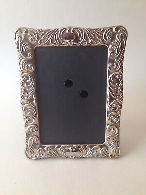 Beautiful Silver Plate Rococo Style Photo Frame Free Standing • 14.99£