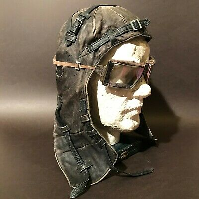 1915 Ww1 Wwi Antique Leather Aviator Pilot Helmet German Luftwaffe Air Forces  • 198£