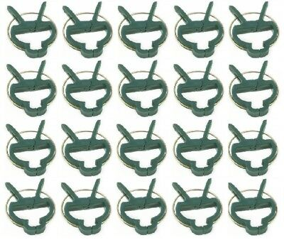 £3.99 • Buy Re Useable Garden Clips Plant Clips Cane Support Sprung Clips Reusable Freepost!